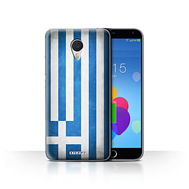 STUFF4 Case/Cover for Meizu M3 Note / Greece/Greek Design / Flags Collection Mobile phones