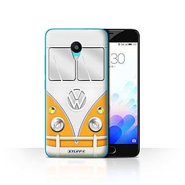 STUFF4 Case/Cover for Meizu M3 / Orange Design / VW Camper Van Collection Mobile phones