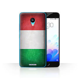 STUFF4 Case/Cover for Meizu M3 / Italy/Italian Design / Flags Collection Mobile phones