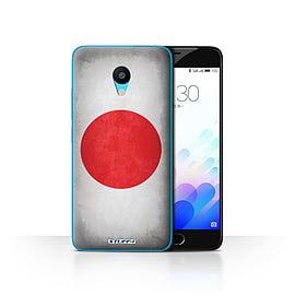 STUFF4 Case/Cover for Meizu M3 / Japan/Japanese Design / Flags Collection Mobile phones