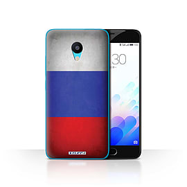 STUFF4 Case/Cover for Meizu M3 / Russia/Russian Design / Flags Collection Mobile phones