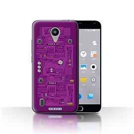 STUFF4 Case/Cover for Meizu M2 / Purple Design / Circuit Board Collection Mobile phones