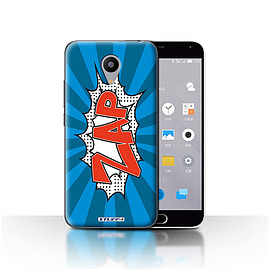STUFF4 Case/Cover for Meizu M2 / Zap Design / Comics/Cartoon Words Collection Mobile phones