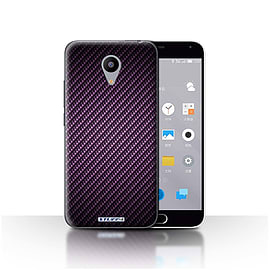 STUFF4 Case/Cover for Meizu M2 / Purple Design / Carbon Fibre Effect/Pattern Collection Mobile phones