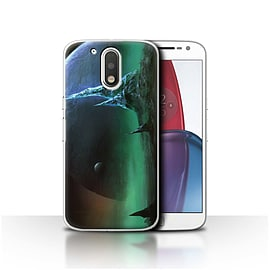 Chris Cold Case/Cover for Motorola Moto G4 Plus 2016/Sapphire Peaks Design/Alien World Cosmos Mobile phones