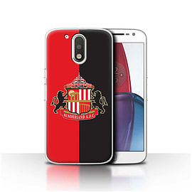 Sunderland AFC Case/Cover for Motorola Moto G4 Plus 2016/Red/Black Design/SAFC Football Club Crest Mobile phones