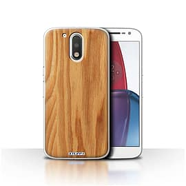 STUFF4 Case/Cover for Motorola Moto G4 Plus 2016 / Oak Design / Wood Grain Effect/Pattern Collection Mobile phones