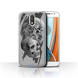 STUFF4 Case/Cover for Motorola Moto G4 2016 / Thorns Design / Skull Art Sketch Collection Mobile phones