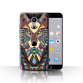 STUFF4 Case/Cover for Meizu M2 / Wolf-Colour Design / Aztec Animal Design Collection Mobile phones