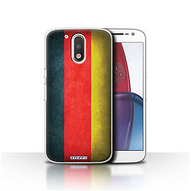 STUFF4 Case/Cover for Motorola Moto G4 Plus 2016 / Germany/German Design / Flags Collection Mobile phones