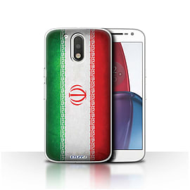 STUFF4 Case/Cover for Motorola Moto G4 Plus 2016 / Iran/Iranian Design / Flags Collection Mobile phones