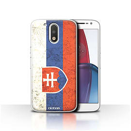 STUFF4 Case/Cover for Motorola Moto G4 Plus 2016 / Slovakia/Slovakian Design / Flags Collection Mobile phones