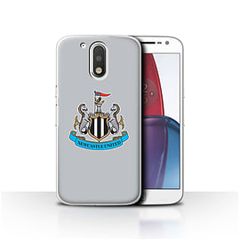 Newcastle United FC Case/Cover for Motorola Moto G4 Plus 2016/Colour/Grey Design/NUFC Football Crest Mobile phones