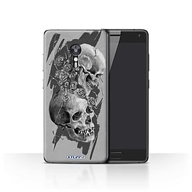 STUFF4 Case/Cover for Lenovo ZUK Z2 Pro / Thorns Design / Skull Art Sketch Collection Mobile phones