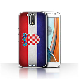 STUFF4 Case/Cover for Motorola Moto G4 2016 / Croatia/Croatian Design / Flags Collection Mobile phones