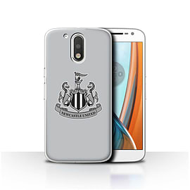 Newcastle United FC Case/Cover for Motorola Moto G4 2016/Mono/Grey Design/NUFC Football Crest Mobile phones
