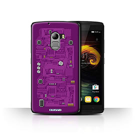 STUFF4 Case/Cover for Lenovo Vibe K4 Note / Purple Design / Circuit Board Collection Mobile phones