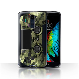 STUFF4 Case/Cover for LG K8/K350N/Phoenix 2 / Green Camouflage Design / Playstation PS4 Collection Mobile phones