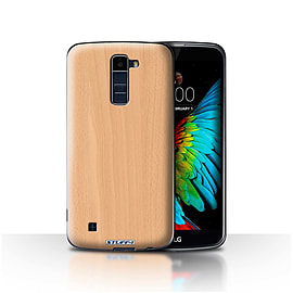 STUFF4 Case/Cover for LG K8/K350N/Phoenix 2 / Beech Design / Wood Grain Effect/Pattern Collection Mobile phones