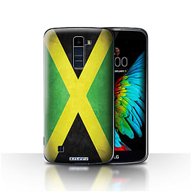 STUFF4 Case/Cover for LG K8/K350N/Phoenix 2 / Jamaica/Jamaican Design / Flags Collection Mobile phones