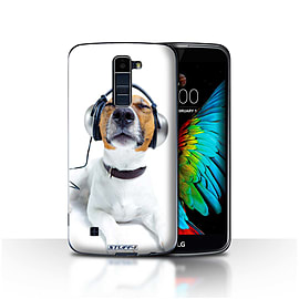 STUFF4 Case/Cover for LG K8/K350N/Phoenix 2/Chillin Headphone Dog Design/Funny Animals Mobile phones