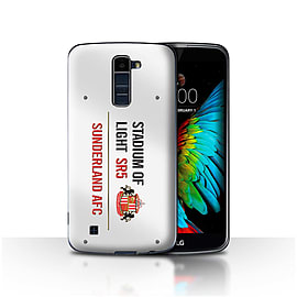 Official Sunderland AFC Case/Cover for LG K7 /X210/White/Red Design/SAFC Stadium of Light Sign Mobile phones