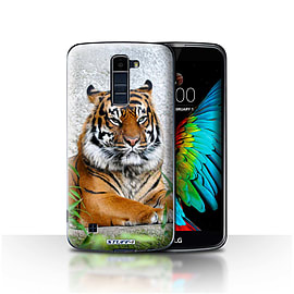 STUFF4 Case/Cover for LG K7 /X210 / Tiger Design / Wildlife Animals Collection Mobile phones