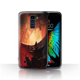 Official Chris Cold Case/Cover for LG K8/K350N/Phoenix 2/Melting Sun Design/Alien World Cosmos Mobile phones