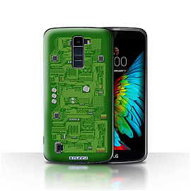 STUFF4 Case/Cover for LG K8/K350N/Phoenix 2 / Green Design / Circuit Board Collection Mobile phones