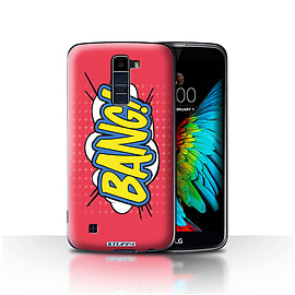 STUFF4 Case/Cover for LG K8/K350N/Phoenix 2 / Bang! Design / Comics/Cartoon Words Collection Mobile phones