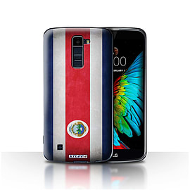 STUFF4 Case/Cover for LG K7 /X210 / Costa Rica/Rican Design / Flags Collection Mobile phones