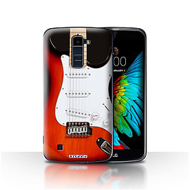 STUFF4 Case/Cover for LG K7 /X210 / Red Electric Design / Guitar Collection Mobile phones