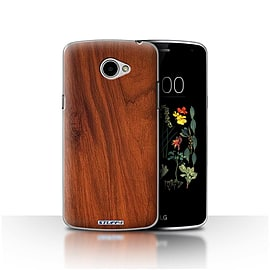 STUFF4 Case/Cover for LG K5/X220/Q6 / Mahogany Design / Wood Grain Effect/Pattern Collection Mobile phones