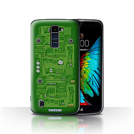 STUFF4 Case/Cover for LG K7 /X210 / Green Design / Circuit Board Collection Mobile phones