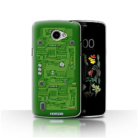 STUFF4 Case/Cover for LG K5/X220/Q6 / Green Design / Circuit Board Collection Mobile phones