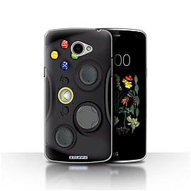 STUFF4 Case/Cover for LG K5/X220/Q6 / Black Xbox 360 Design / Games Console Collection Mobile phones