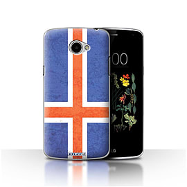 STUFF4 Case/Cover for LG K5/X220/Q6 / Iceland/Icelandic Design / Flags Collection Mobile phones