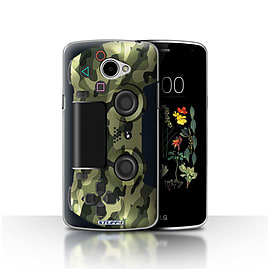 STUFF4 Case/Cover for LG K5/X220/Q6 / Green Camouflage Design / Playstation PS4 Collection Mobile phones