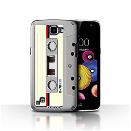 STUFF4 Case/Cover for LG K4/K120/K121/K130 / Compact Cassette Tape Design / Retro Tech Collection Mobile phones