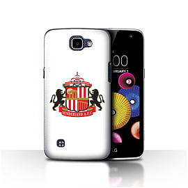 Official Sunderland AFC Case/Cover for LG K4/K120/K121/K130/White Design/SAFC Football Club Crest Mobile phones