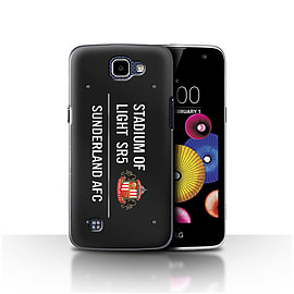 Sunderland AFC Case/Cover for LG K4/K120/K121/K130/Black/White Design/SAFC Stadium of Light Sign Mobile phones