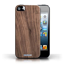 STUFF4 Case/Cover for Apple iPhone SE / Walnut Design / Wood Grain Effect/Pattern Collection Mobile phones