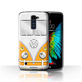 STUFF4 Case/Cover for LG K10 /K420/K430 / Orange Design / VW Camper Van Collection Mobile phones