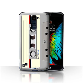 STUFF4 Case/Cover for LG K10 /K420/K430 / Compact Cassette Tape Design / Retro Tech Collection Mobile phones