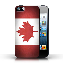 STUFF4 Case/Cover for Apple iPhone SE / Canada/Canadian Design / Flags Collection Mobile phones