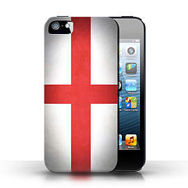 STUFF4 Case/Cover for Apple iPhone SE / England/English Design / Flags Collection Mobile phones