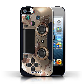 STUFF4 Case/Cover for Apple iPhone SE / Desert Camouflage Design / Playstation PS4 Collection Mobile phones