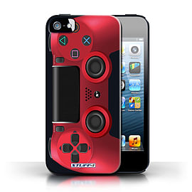 STUFF4 Case/Cover for Apple iPhone SE / Red Design / Playstation PS4 Collection Mobile phones