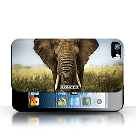 STUFF4 Case/Cover for Apple iPhone SE / Elephant Design / Wildlife Animals Collection Mobile phones