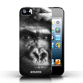 STUFF4 Case/Cover for Apple iPhone SE / Gorilla/Monkey Design / Wildlife Animals Collection Mobile phones